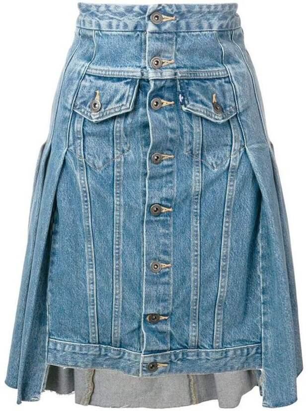 levis переделка куртки в юбку