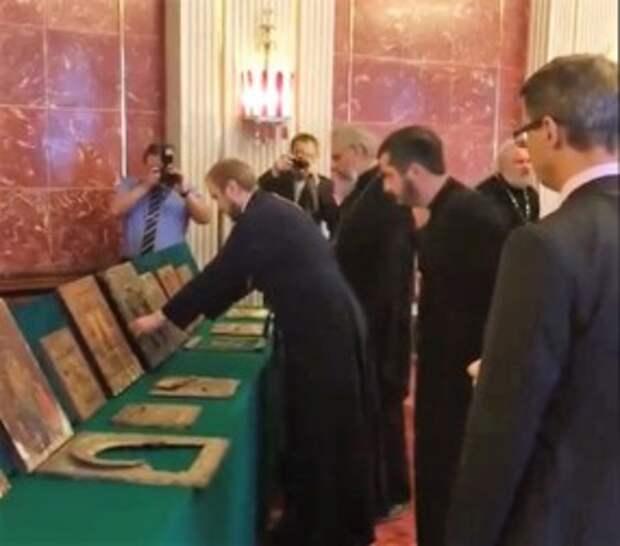 Сын немца, воевавшего в СССР передал России награбленные  в войну иконы