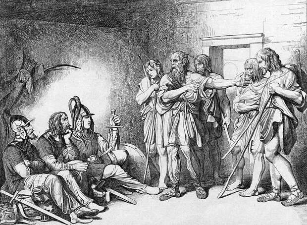 Призвание варягов. художник Ф. А. Бруни, 1839 год