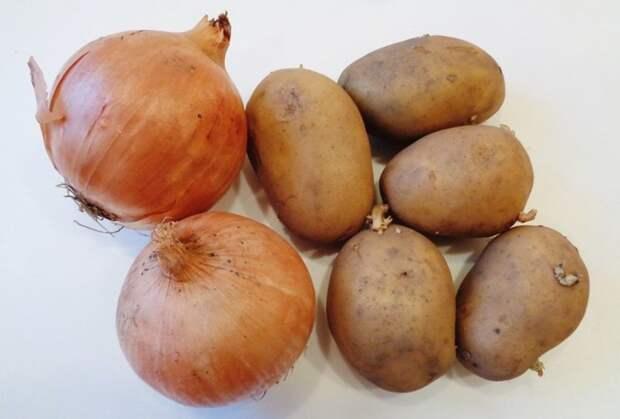 2. Не хранить лук и картофель рядом еда, овощи и фрукты, продукты, советы, храним правильно