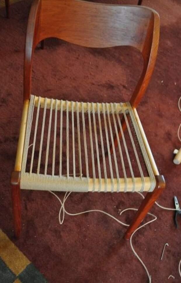 плетеный стул как сделать