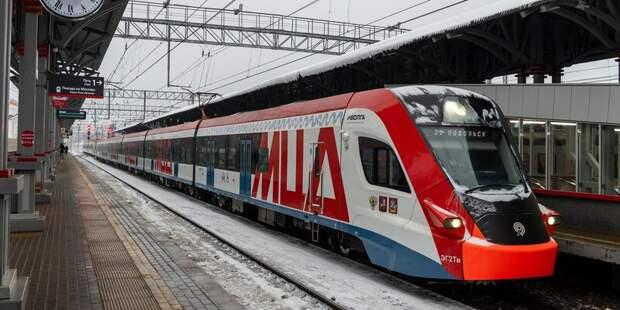 В апреле увеличится интервал прибытия поездов МЦД-2 к стации «Красный Балтиец»