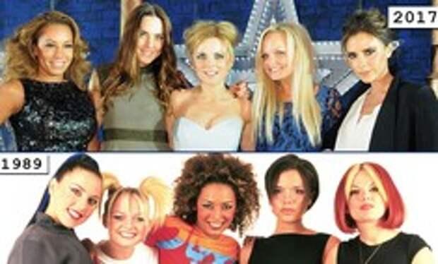 Золотой зуб, блестки и эпатаж: как изменились солистки группы Spice Girls