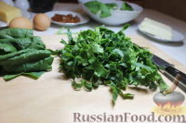 Фото приготовления рецепта: Запеканка из спагетти, со шпинатом и ветчиной - шаг №5