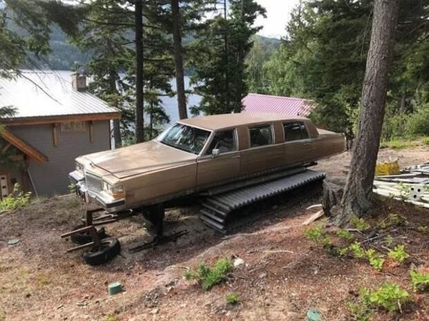 Уникальный лимузин на гусеничном ходу