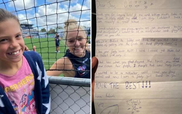 Девочка написала письмо звезде футбола. Она не ответила, но пришла в гости