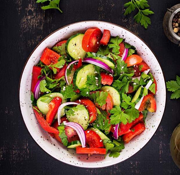 Маринованные овощи в пакете