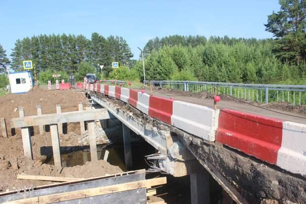 Ремонт моста на дороге Сарапул-Каракулино закончат к сентябрю