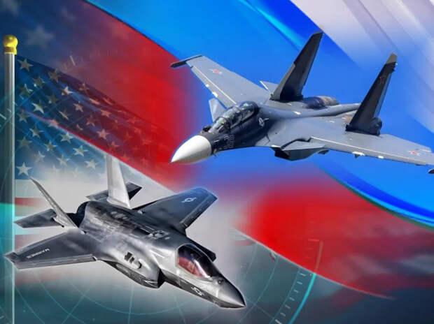 Реакция в США на перехват Су-30СМ истребителя F-35 в небе над Балтикой