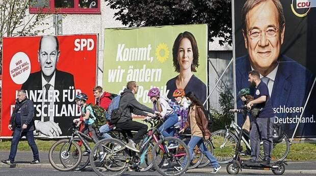 100% голосов на выборах в немецкий парламент подсчитано. Блок Меркель ХДС/ХСС...
