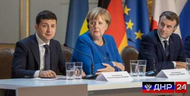 Макрон, Меркель и Зеленский обсудят напряженность в отношениях с Россией