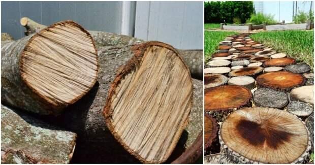 Лучшее решение для сада — деревянная садовая дорожка