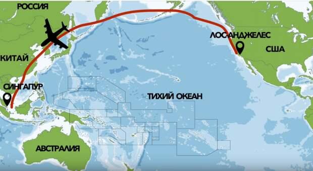 Траектория полета самолетов