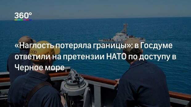 «Наглость потеряла границы»: в Госдуме ответили на претензии НАТО по доступу в Черное море