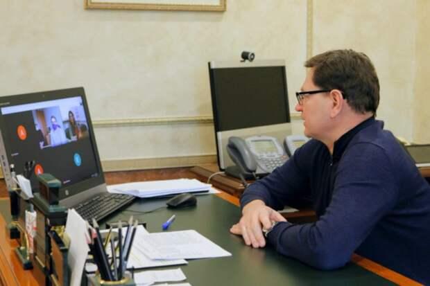 Алексей Пашков провел видеоконференцию с активом партии «Единая Россия» и жителями округа