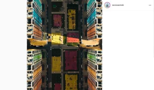 Фото дня: тетрис цветных домов Северного