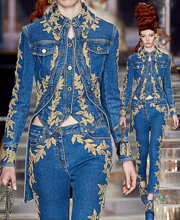 Кафтан придворный,джинсовый