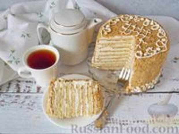 Фото приготовления рецепта: Медовик апельсиновый - шаг №25
