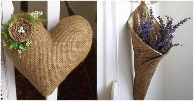 Безграничный простор для творчества: милые вещички, сделанные из мешковины