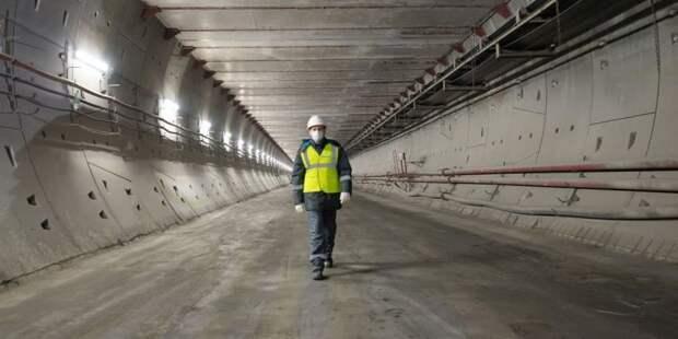 Собянин осмотрел ход строительства станции метро «Лианозово». Фото: В. Новиков mos.ru