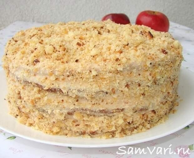 торт сметанник яблочный