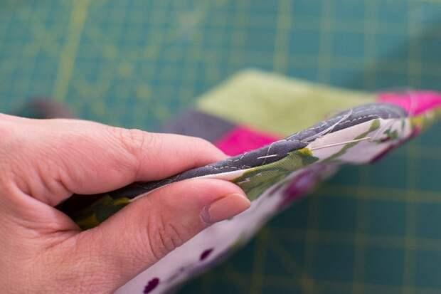 Прихватка из лоскутков по спирали: мастер-класс + шаблон