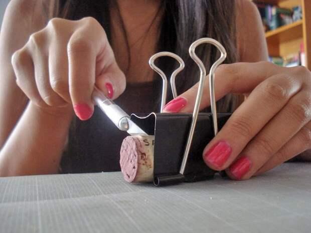 как разрезать пробку