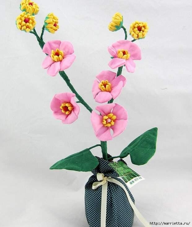 Ручная работа. Цветы из ткани (95) (571x677, 190Kb)