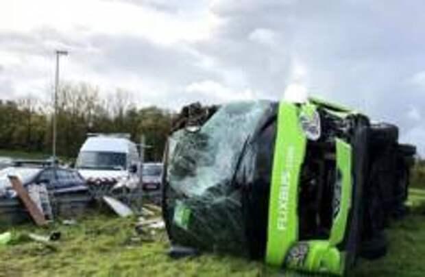 33 человека пострадали в ДТП во Франции