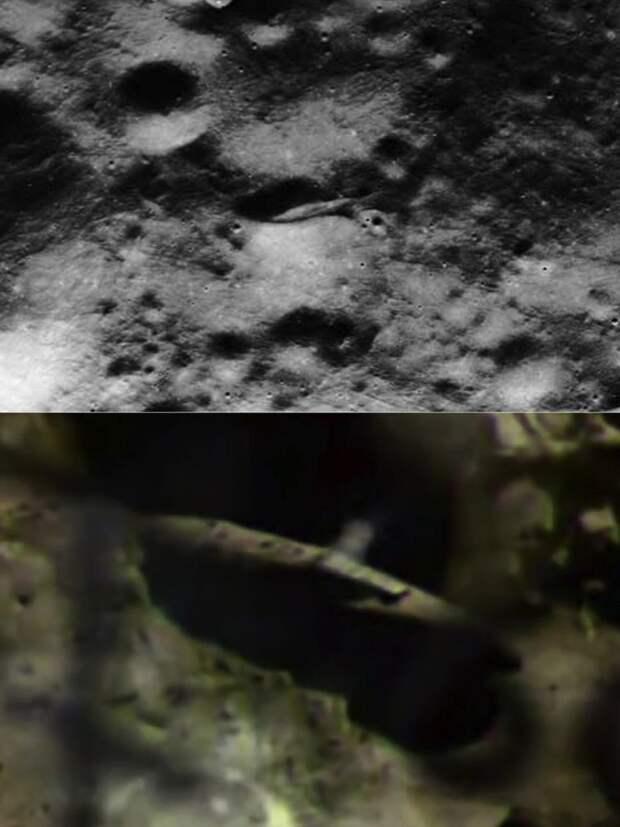 """Инопланетный корабль и его """"реконструкция""""."""