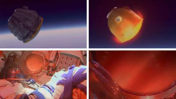"""Космический корабль """"Союз МС-17"""" с экипажем МКС вошел в атмосферу"""