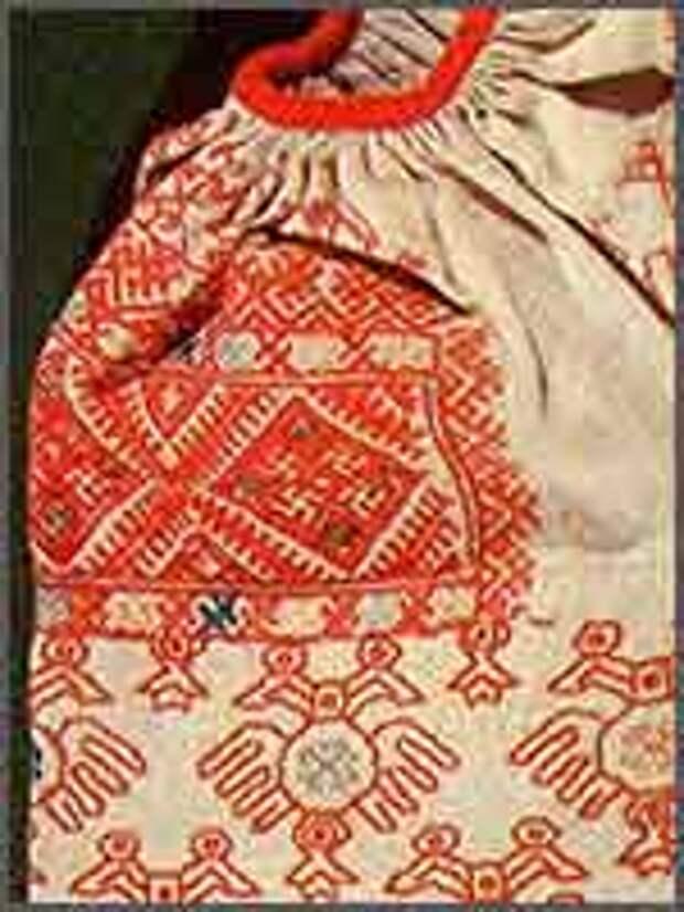 Праздничная женская рубаха. Начало 19 в. Каргополье