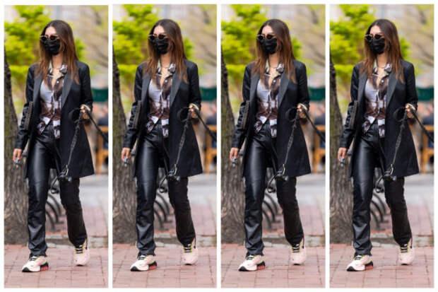 Как нескучно носить черный костюм: берем пример с Э...