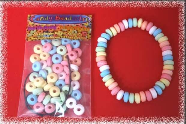колье из конфет