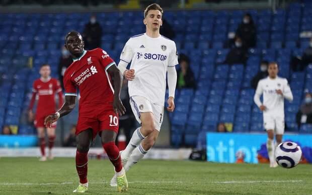 «Ливерпуль» упустил победу над «Лидсом», пропустив гол за 3 минуты до конца игры