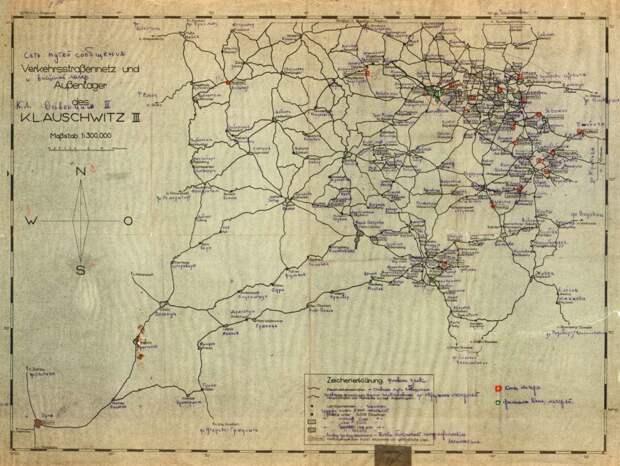 Схема немецкой сети путей сообщения между концлагерями, расположенными на территории Польши  / ©warsaw75