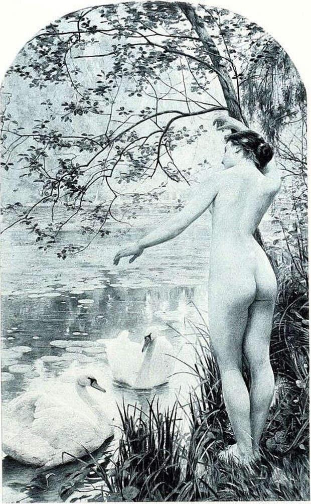 Обнаженная натура в изобразительном искусстве разных стран. Часть 163.