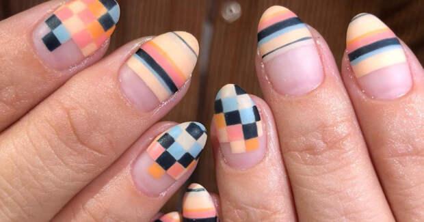 55 модных вариантов маникюра, который выглядит красиво даже на отросших ногтях