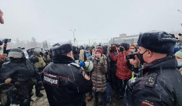 Намитинге вподдержку Навального вПетрозаводске задержали трех человек