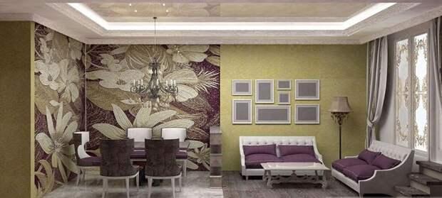 Красивое и необычное решение для декорирования и зонирования зрительно пространства, что станет просто находкой.
