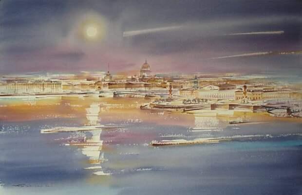 художник Константин Кузема акварель картины - 03
