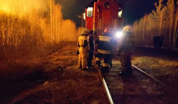 «Пригнали пожарный поезд»: огонь наплощади 800 квадратных метров потушен вСерове