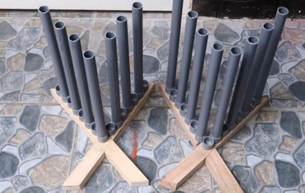 Необычный способ использования труб ПВХ