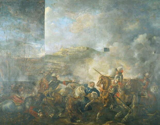 Битва при Касселе 1677 года. Художник Жозеф Парросель - Победа любит усердие   Warspot.ru