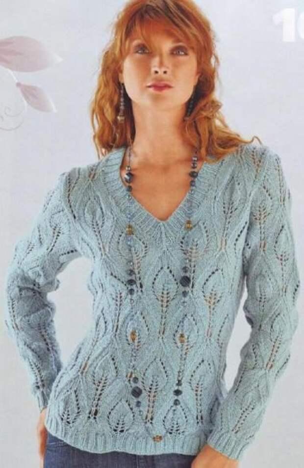Вяжем женский свитер спицами