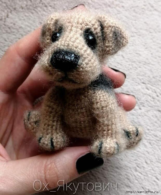 Игрушки - Выкройка куколки и собачка амигуруми
