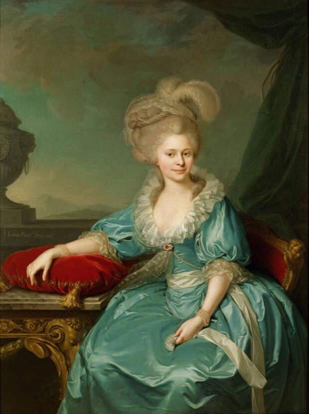 Принцесса Елизавета Вильгельмина Луиза Вюртембергская, Иоганн Баптист Лампи Старший, 1785 г.\ Фото: ru.wikipedia.org.