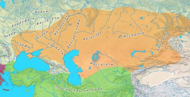 расселение скифских племен в 4-5 веке до н.э.