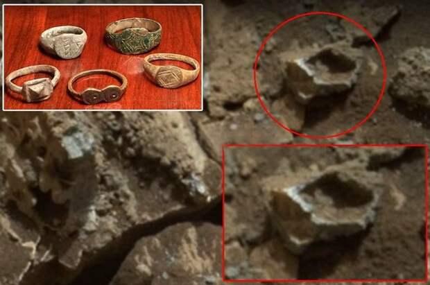 Новая находка на Марсе – золотое кольцо