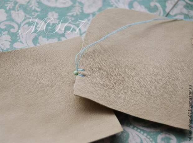 Красивая вышивка бисером края изделия 5